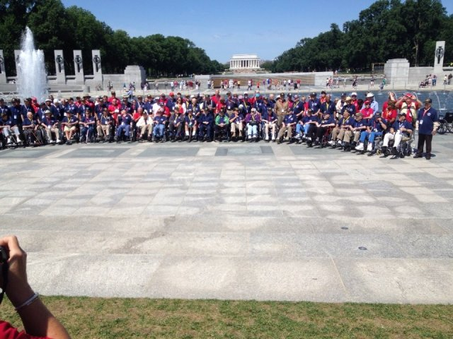 Talons Out Honor Flight at the World War II Memorial